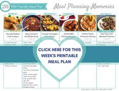 weight watcher friendly meal plan with smart points 4 weight