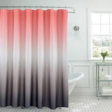 Coral And Gray Curtains Vibrant Coral And Gray Shower Curtain Buy Fabric Curtains From Bed