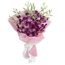 Purple Orchids Bunch Of 10 Lavender Orchids Myflowergift