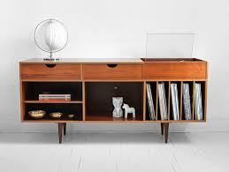 Decorating A Credenza Vintage Swedish Teak Record Cabinet Mid Century Credenza Wood