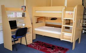 Bunk Bed Trundle Bed Olympic Bunk Beds With Trundle Bed And Workstation Desk Beech