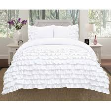 Ruffle Bed Set Empire Home 2 Piece Katy Pleated Ruffled Comforter Set Twin Size