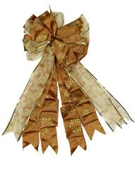 copper u0026 gold ribbon tree top bow up to 84cm christmas