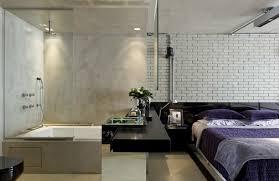 Open Bathroom Design 17 Open Living Spaces That Blur The Line Between Bedroom And Bathroom