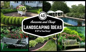 awesome and cheap landscaping ideas 27 is too easy