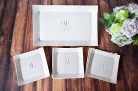 personalized wedding platter personalized wedding gift rectangular wedding platter with set of 6