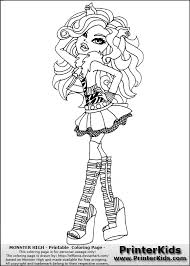 monster clawdeen coloring pages getcoloringpages