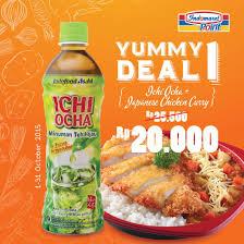 Teh Ichi Oca indomaret point on japanese chicken curry ichi ocha