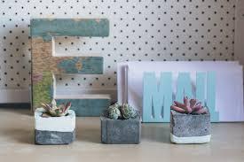 concrete planters charming and innovative 14 diy concrete planters