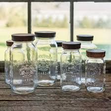 Kitchen Glass Canisters With Lids by Wood Pantry Jar Lids Covers For Glass Jars Wood Lids For