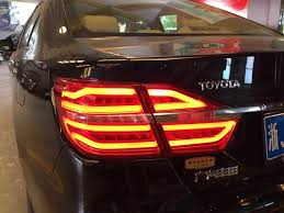2015 toyota camry tail light fit led camry 2015 up tailliights assembly red smoke style rear l