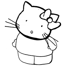hello kitty standing up colouring pages to print for