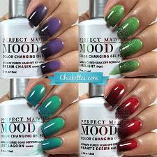 lechat perfect match mood gel polish swatches u2013 chickettes soak