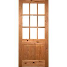 9 Lite Exterior Door Krosswood Doors 32 In X 80 In Rustic Alder Lite Clear Low E