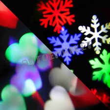 christmas window projection dvd indoor multi color snowflake led landscape decor light projector