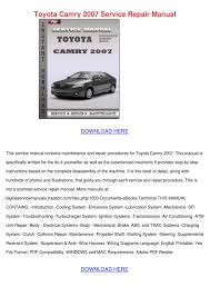 100 2002 toyota camry workshop manual 2011 toyota camry