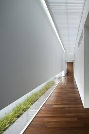 flur beleuchtung minimalistische flurgestaltung mit pflanzen und indirekte