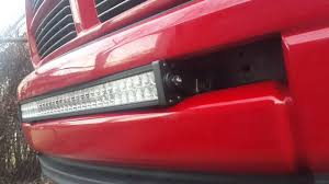 Red Led Light Bars by How To Install Led Light Bar In Dodge Ram Part 1 Youtube