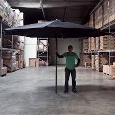 9x9 u0027 patio aluminum offset umbrella gazebo outdoor shade w cross
