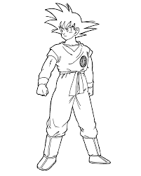 goku coloring pictures coloring pages