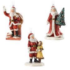 doulton ornaments set of 3 assorted santas
