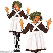 oompa loompa costume kids factory worker book week oompa loompa wig fancy dress
