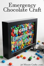emergency chocolate craft on 30 minute crafts jpg