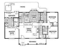 House Plans With Vaulted Great Room by Country Style House Plan 3 Beds 2 00 Baths 1412 Sq Ft Plan 18 1036