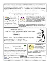 news letter u2014 mingo creek presbyterian church eco