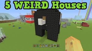 house pictures ideas minecraft 5 weird house ideas house tutorial youtube