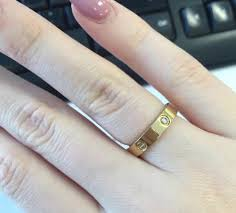 cartier rings images Gold cartier love rings jewelglitz jpg