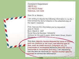 Dispute Letter For Experian 3 ways to dispute an experian credit report by mail wikihow