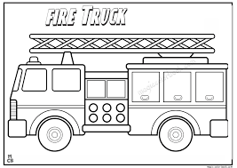 fire truck free coloring pages