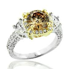 colored halo rings images Unique champagne fancy color diamond engagement ring 2 5ct halo jpg