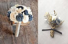 Gold Boutonniere Navy Blue And Gold Wedding Ideas And Inspiration Wedding