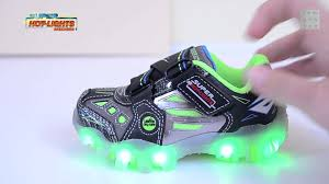 skechers light up shoes on off switch boys skechers super lights shoes light up sneakers youtube