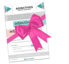 free adjectives worksheet