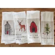 christmas towels tea towels gregory studio