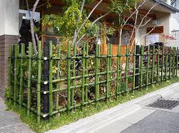 Small Garden Fence Ideas Architecture Front Yard Design With Diy Green Bamboo Fence And