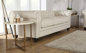 Chesterfield Sofa Suite Hton 3 Seater Leather Chesterfield Sofa Ivory For The Home