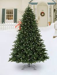 outdoor christmas tree allegheny evergreen outdoor artificial christmas tree balsam hill