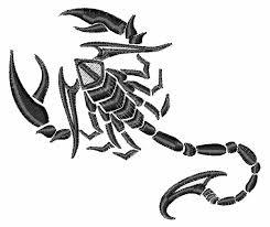 scorpion tattoo embroidery design annthegran