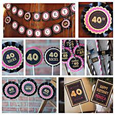 40th birthday decorations 40th birthday decorations birthday decor 40th party