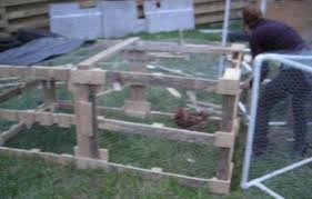 Rabbit Hutch From Pallets Turn Old Pallets Into A Chicken Tractor 7 Steps With Pictures