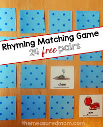 try this free rhyming game the measured mom