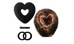 bun accessories heart shaped hair disk hair bun accessories groupon
