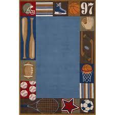 collegiate sports rug and nursery necessities in interior design