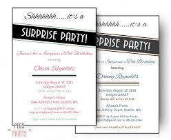 surprise birthday invitation printable surprise