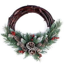 grapevine wreath winter 16 frosted berry grapevine wreath 7299276 hsn