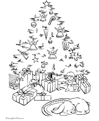free christmas tree coloring sheets 025